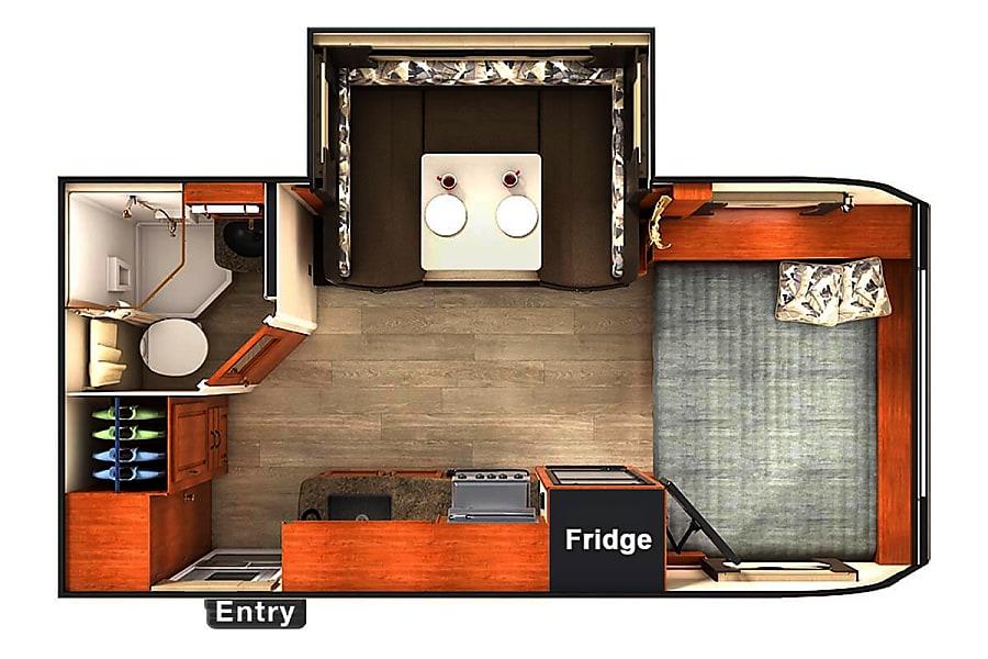floorplan 2014 Lance 1685 Tucson, AZ