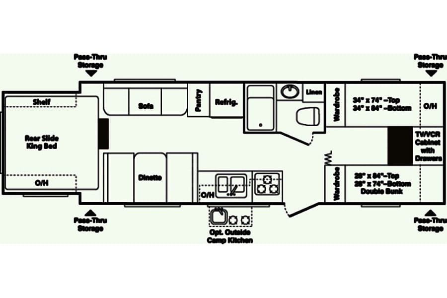 floorplan Keystone Outback Bunk House Richmond, VA