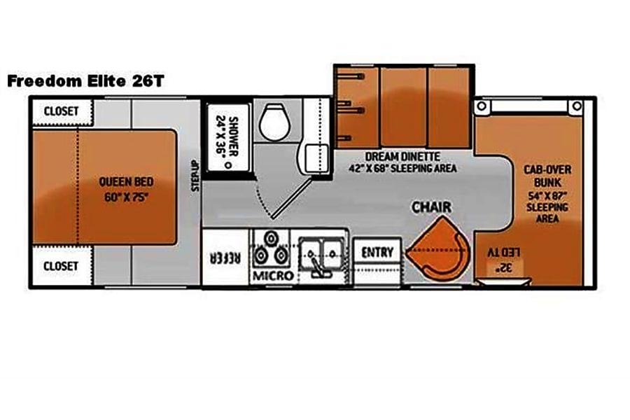 floorplan 2014 Thor Motor Coach Freedom Elite Gibraltar, MI