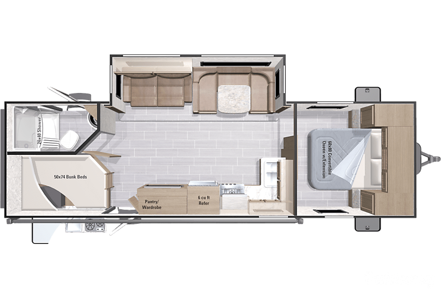 floorplan 2017 Open Range Ultra Lite 2802BH Virginia Beach, VA