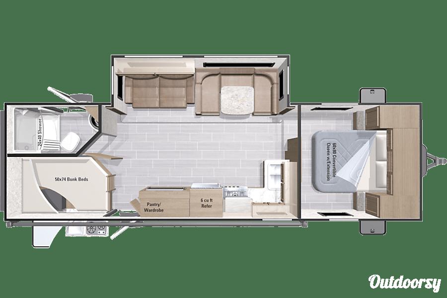 floorplan 2017 Open Range Ultra Lite 2802BH Virginia Beach, Virginia