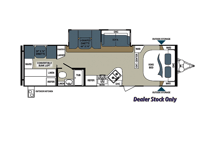 Family Friendly Value 2014 Aerolite Travel Trailer Pearland, Texas this floorplan is designed for maximum privacy and comfort