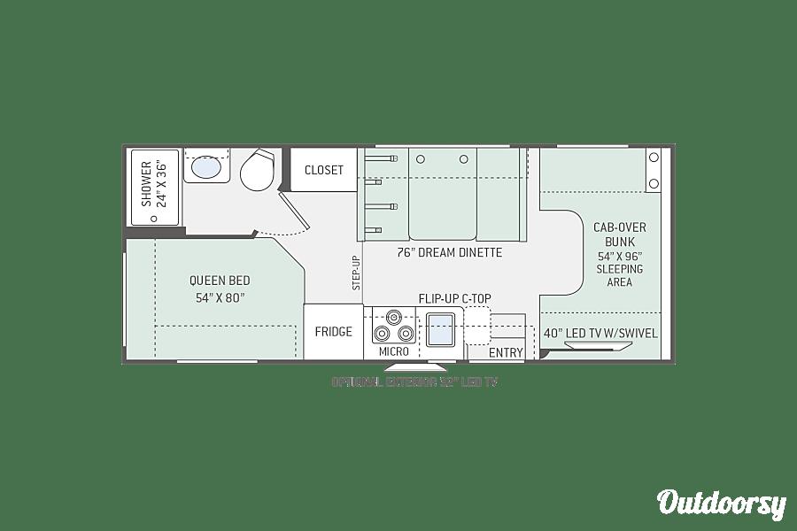 floorplan 2017 Thor Chateau - 24' Lodi, CA