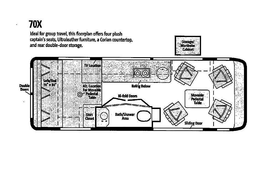 floorplan 2015 Winnebago Era Missouri City, TX
