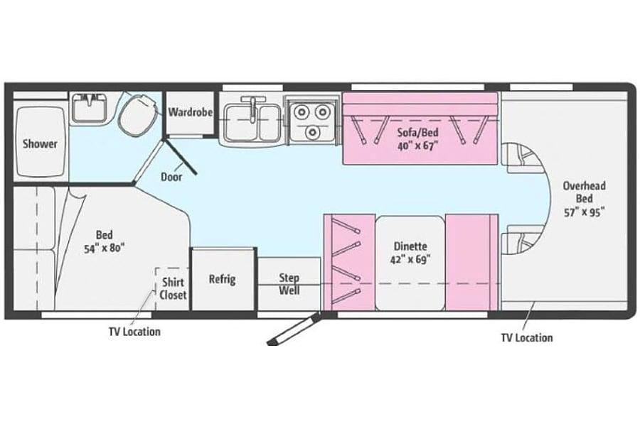 floorplan 2017 Penny the Minnie Winnie Leander, TX