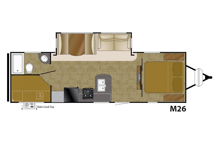 floorplan 2018 Heartland Mallard M26 Gallatin, TN