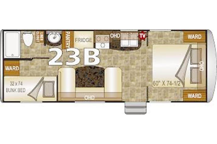 "floorplan 2016 NASH by Northwood Mfg. Like new 23"" Bunkhouse Santa Rosa, CA"