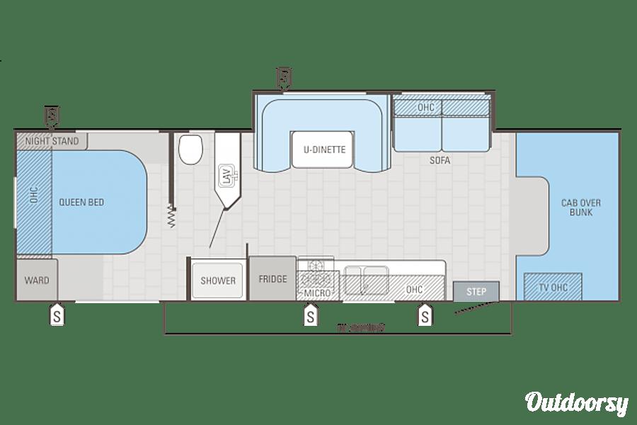 2016 Jayco Redhawk 29 XK Morris Chapel, Tennessee Floor Plan.