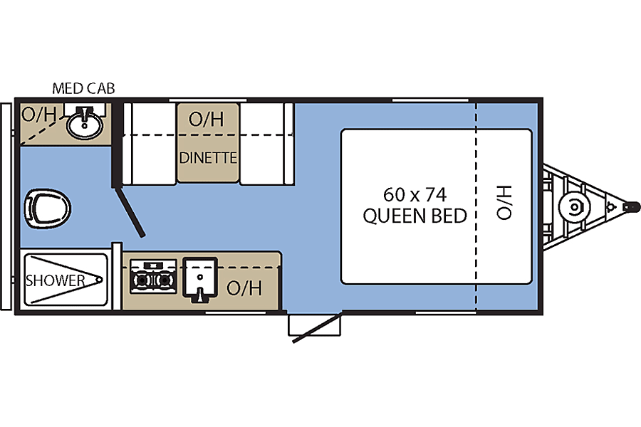 "floorplan 2017 Coachmen Clipper (17') - nicknamed ""Bandera"" Houston, TX"