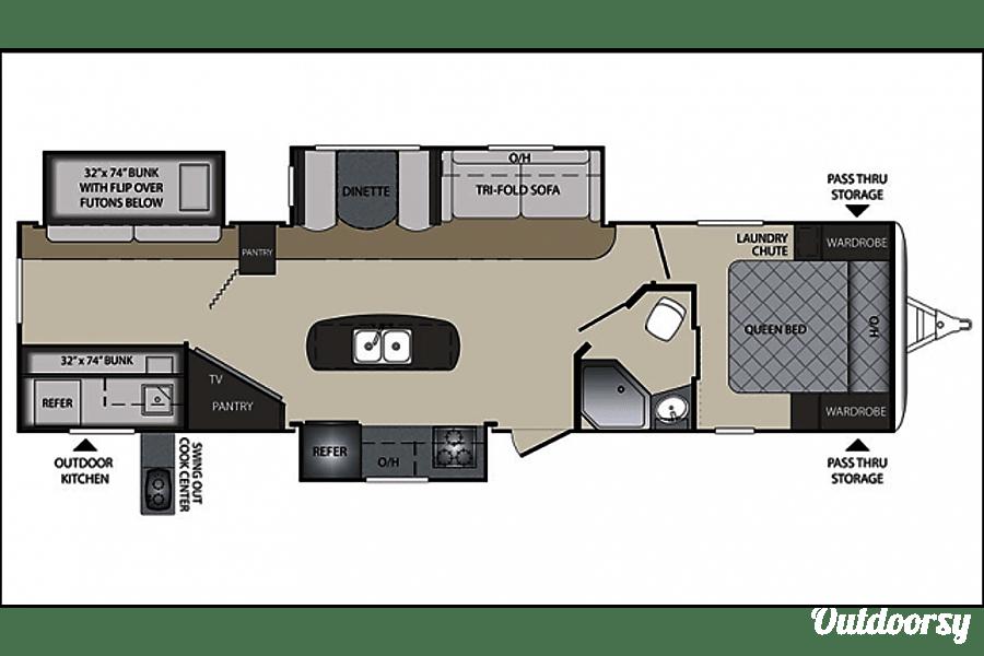floorplan 2016 Keystone Premier Eagle Mountain, Utah