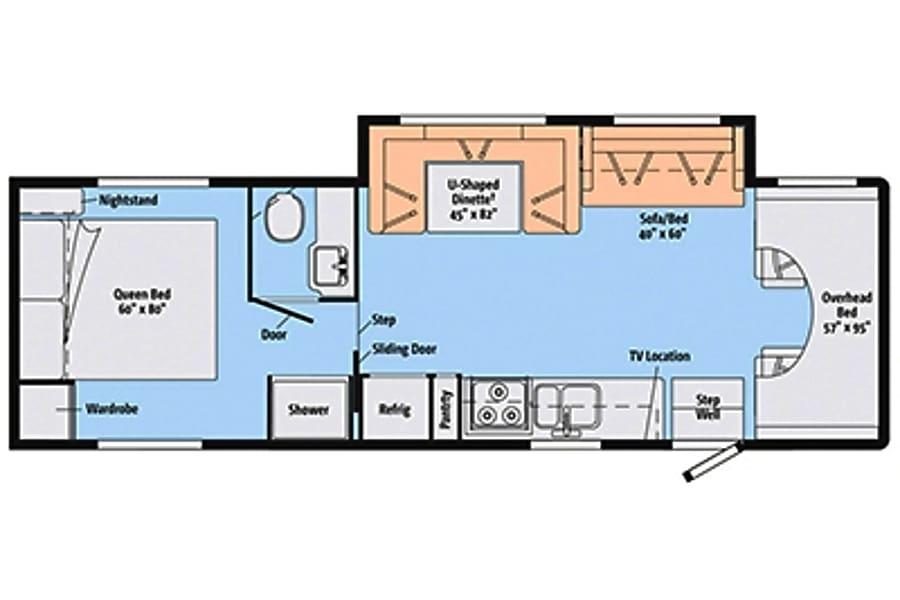 floorplan 2014 Winnebago ITASCA Sacramento, CA