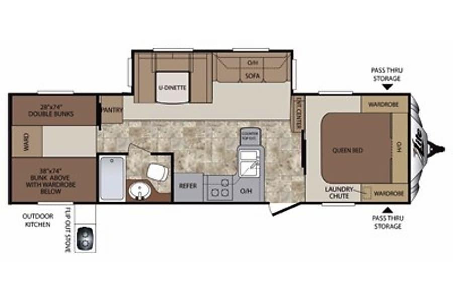 floorplan 2012 Keystone Cougar XLite Milford, NH
