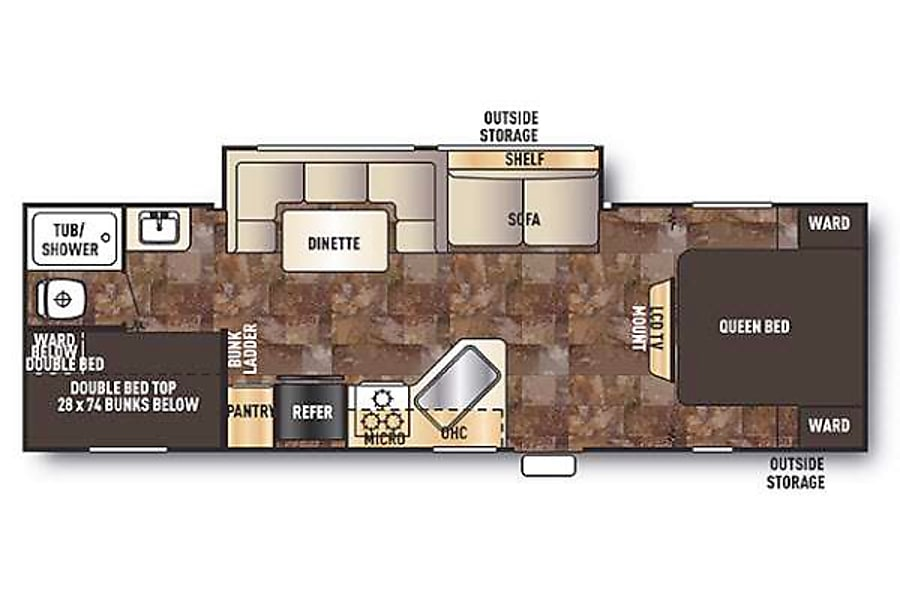 floorplan Forest River Patriot Travel Trailer Highlands Ranch, CO