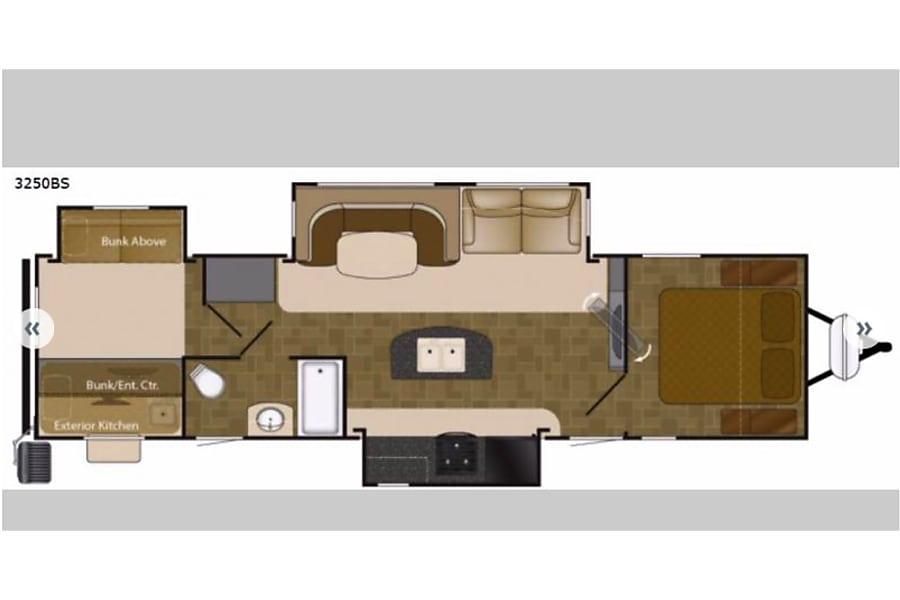 floorplan 2018 Heartland Wilderness Fort Collins, CO
