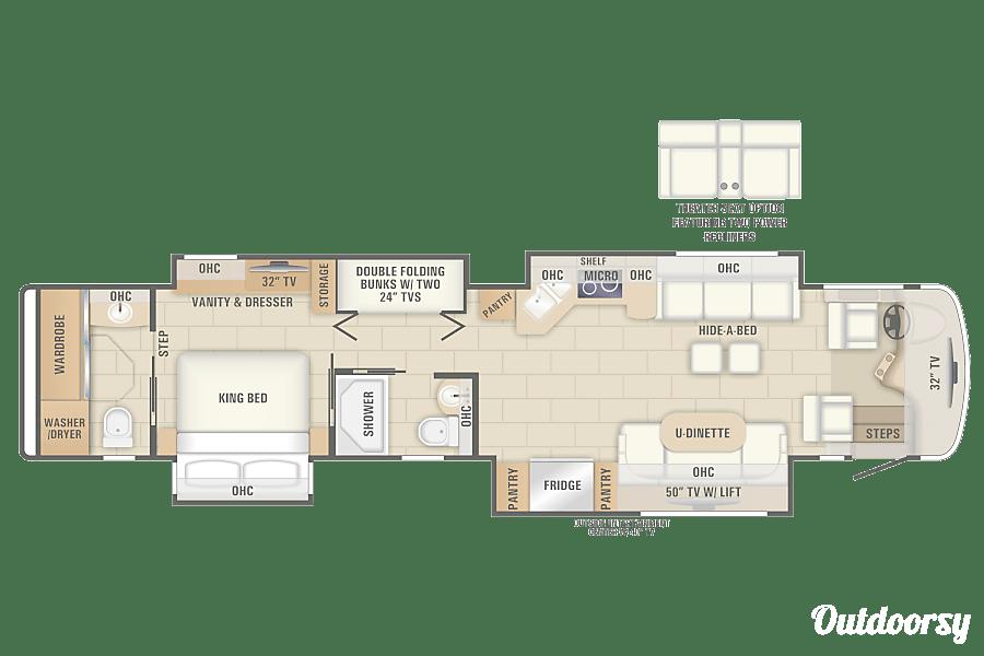 floorplan SOLAR ECLIPSE w/ CAMPSITE 2018 Entegra Coach Aspire Saint Anthony, Idaho