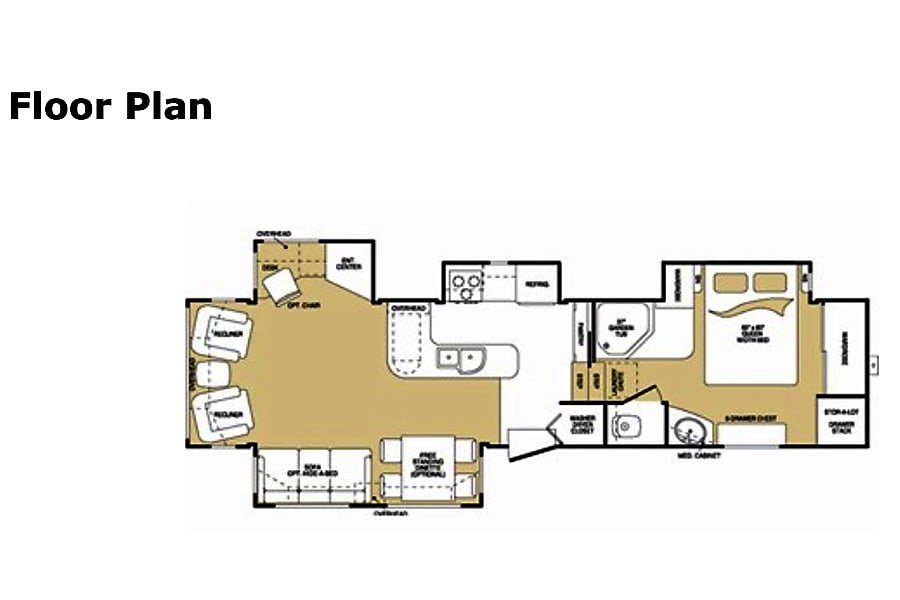 floorplan 2008 Keystone Montana Bluefield, West Virginia