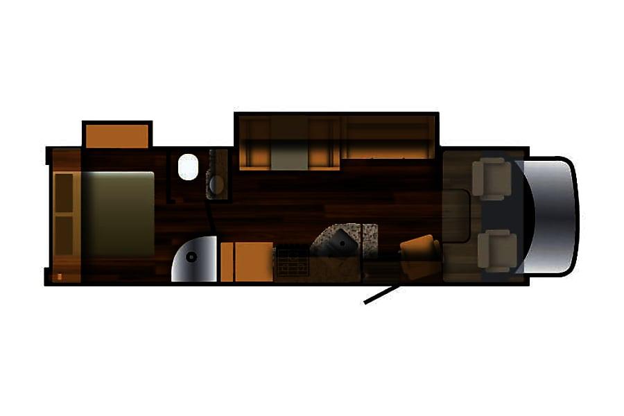 2016 Nexus Phantom Hayward, Wisconsin Floorplan with slide out opened