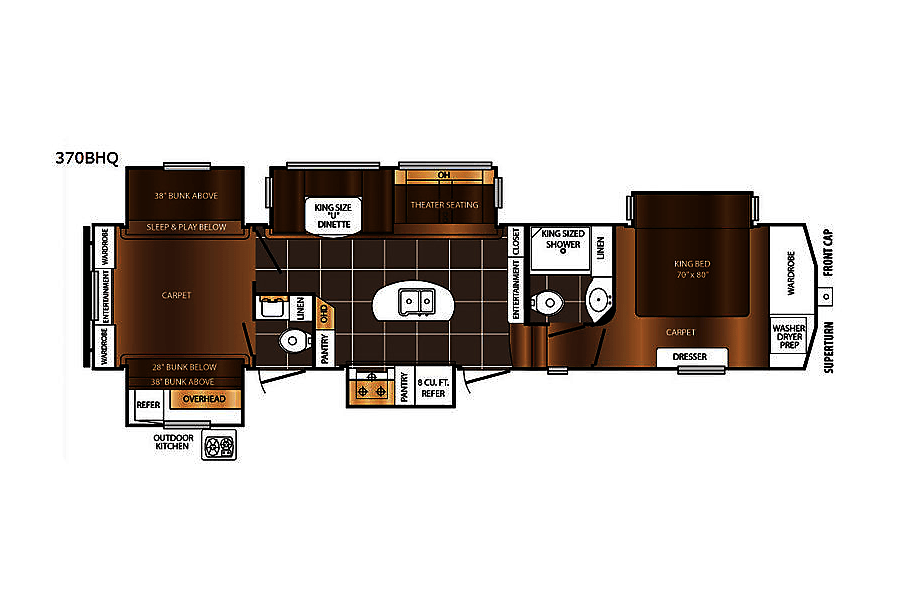 floorplan 2017 Prime Time Crusader Albuquerque, NM