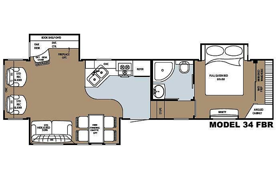 floorplan Home Away From Home Llano, TX