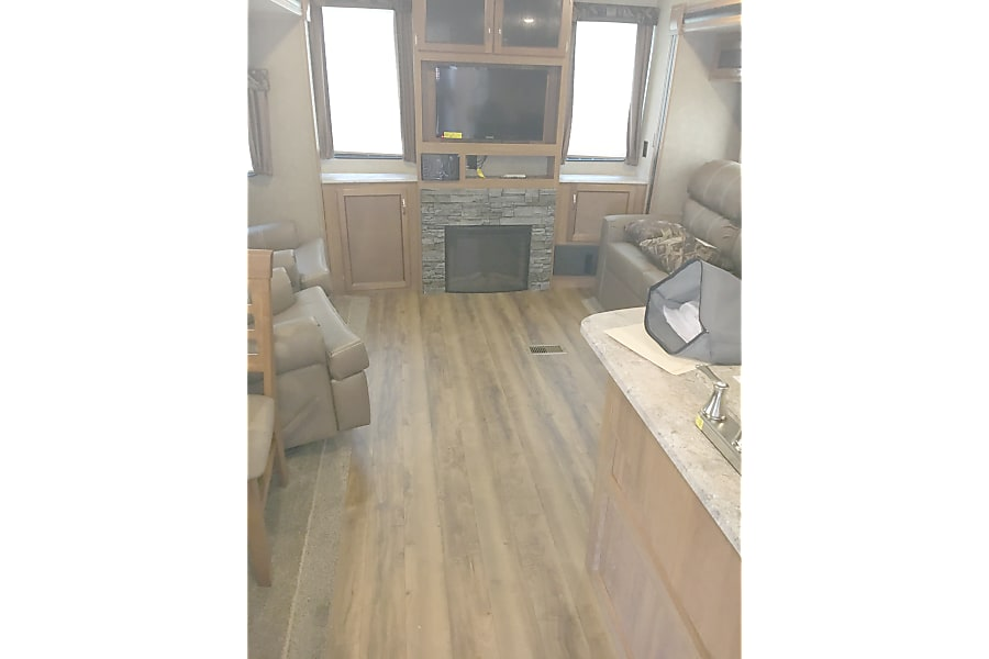 2017 Coachmen Catalina Fresno, California Fireplaces in living room and bedroom for decoration and/or heat.