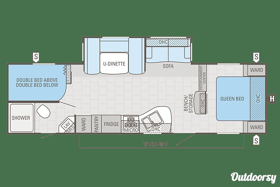 floorplan 2015 Jayco Jay Flight Pullman, WA