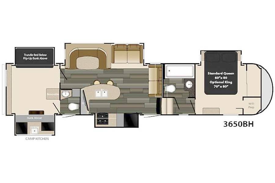 floorplan We deliver and pick up! You just show up and relax- 2017 41' Gateway Ocala, Florida