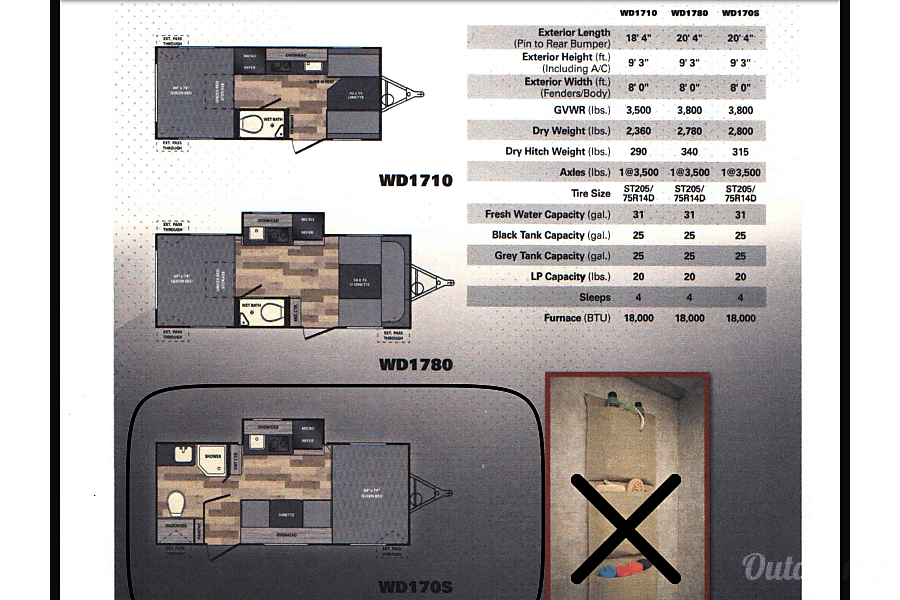 floorplan 2015 Winnebago Winnie Drop Spring Branch, TX