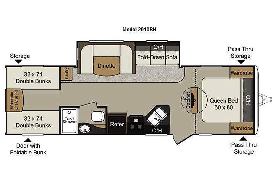 floorplan 2013 Keystone Passport Pendleton, IN
