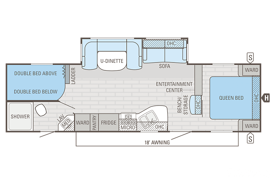 floorplan 2016 Jayco Jay Flight Fresno, CA