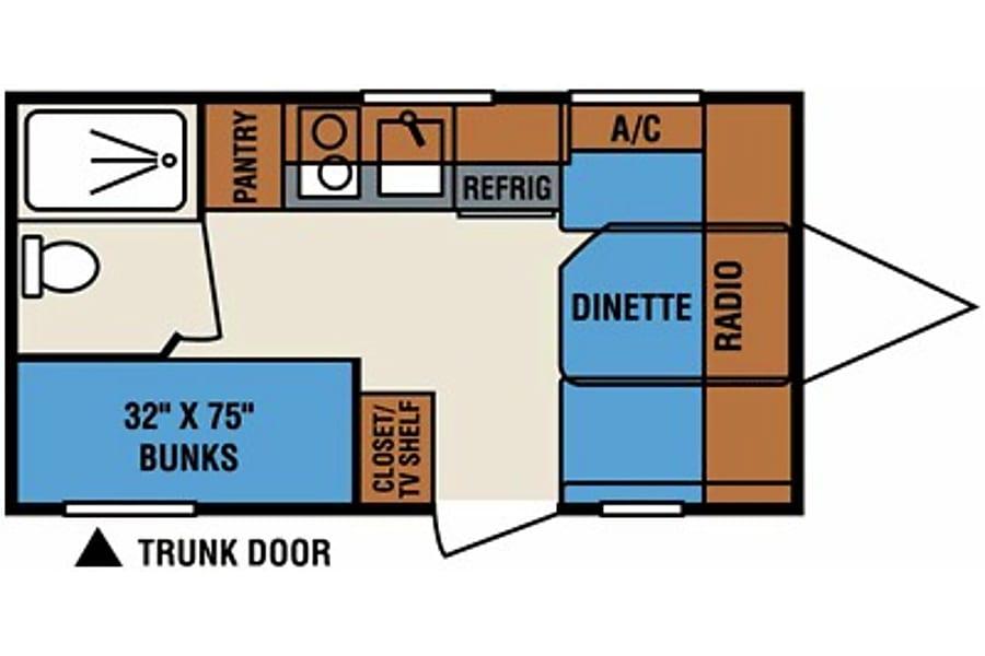 2014 K-Z Spree Escape 16BH Albuquerque, New Mexico Floor plan