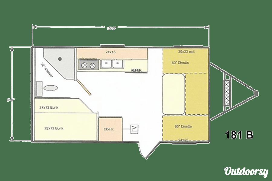 floorplan 2015 Riverside Rv 18ft Retro Bunk-Bed San Jose, CA