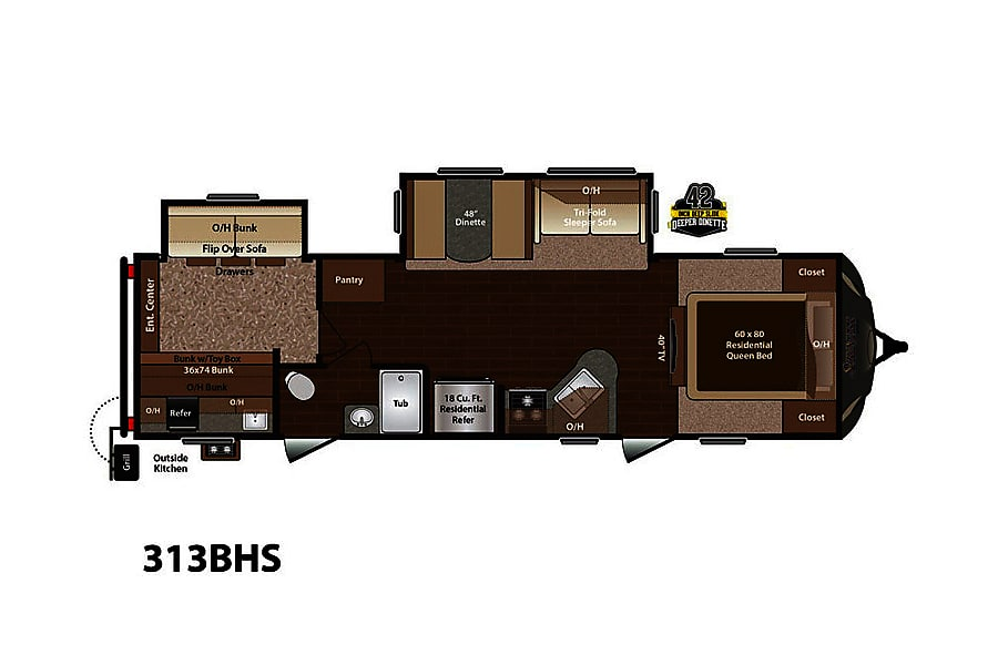 floorplan 2016 Keystone Sprinter Wide Body Cypress, TX