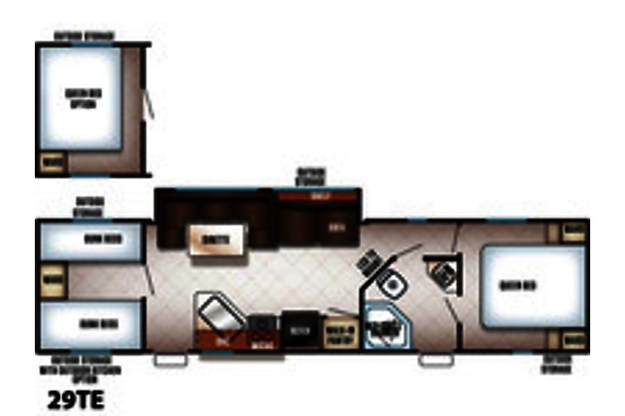 floorplan 2017 Cherokee Grey Wolf 29TE Jacksonville, FL