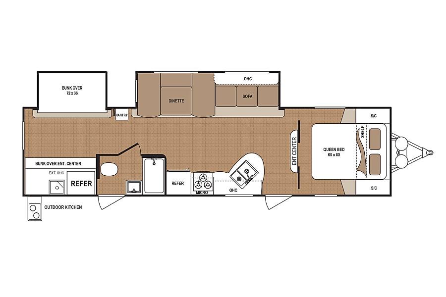 floorplan Spacious Bunkhouse San Antonio, TX