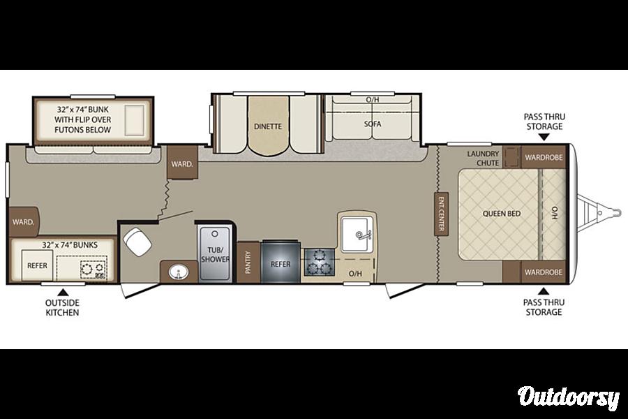 floorplan 2015 Keystone Bullet 308BHS Newcastle, Oklahoma
