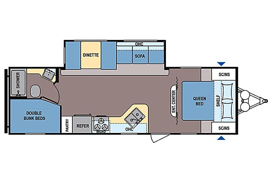 floorplan 2015 Coleman by Dutchmen 262BH Bunkhouse New Braunfels, TX