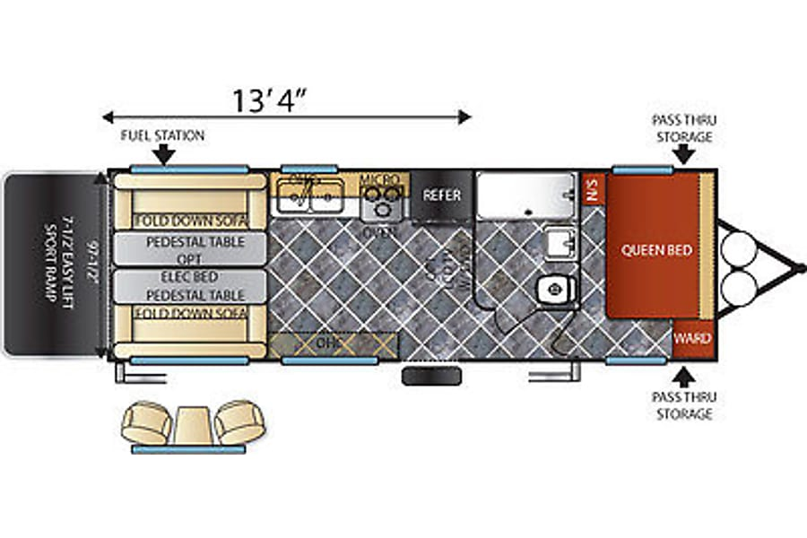 floorplan 2016 Shockwave T21FQ MX Draper, UT
