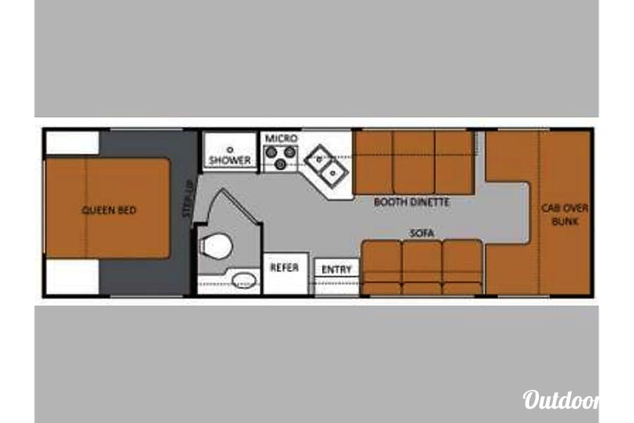 floorplan 2014 Thor Motor Coach Four Winds Sandy, UT
