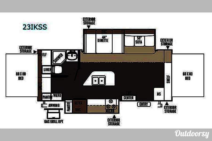 floorplan 2014 Shamrock 23ikss WILL DELIVER Fort Worth, TX
