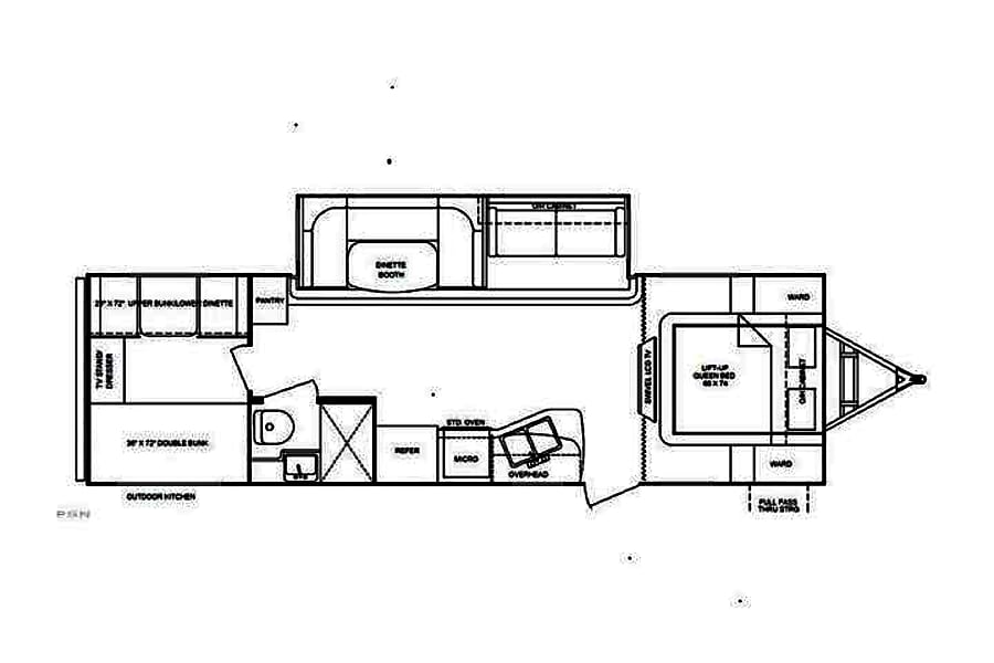 floorplan 2012 Cruiser Rv Corp Shadow Cruiser Willow Spring, NC