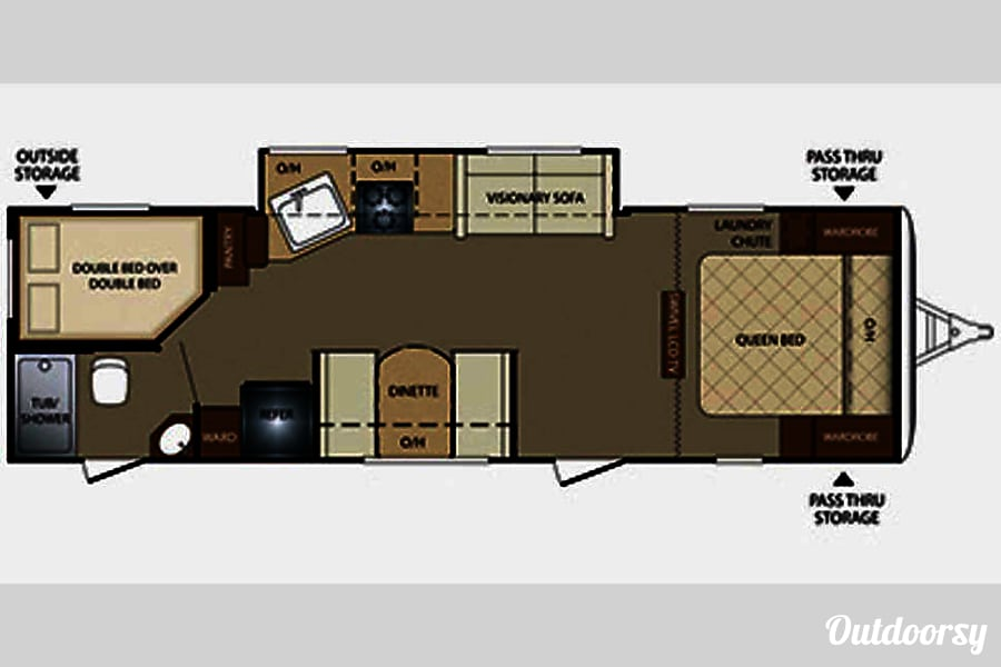 floorplan 2013 Keystone Bullet Bend, OR