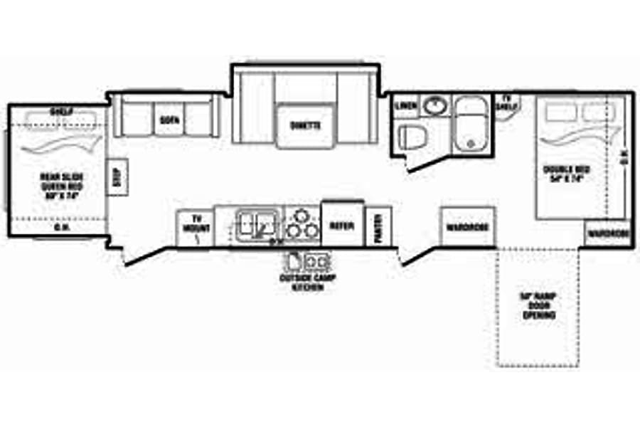 floorplan 2008 Keystone Kangaru 28krs Westminster, CO