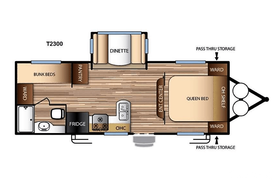 floorplan 2017 Forest River Evo 2300 Goodyear, AZ