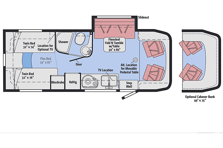 2017 Itasca Navion Heber City, UT Great floor plan lets you sleep with twins in the back or a massive king bed with privacy curtain. Indoor and outdoor entertainment system, Ducted heating and A/C so you can get the air where you need it.
