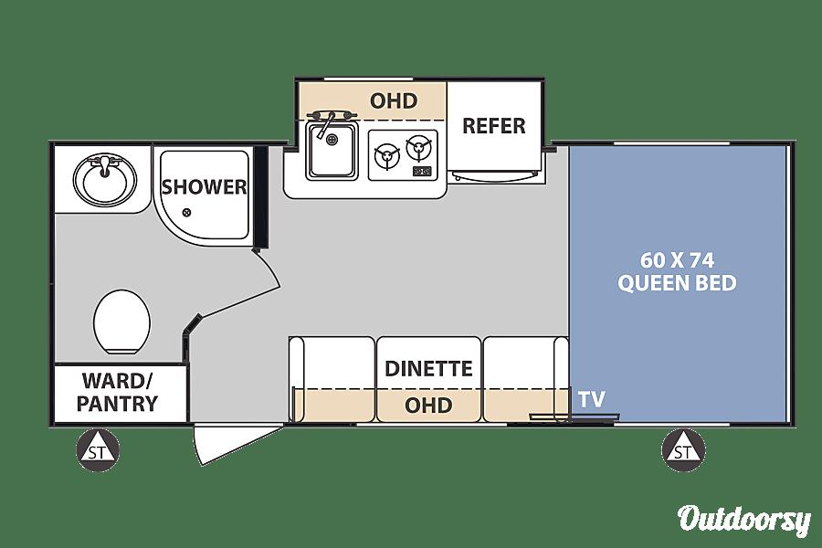 """floorplan 2018 Forest River R-Pod 180 """"Blue Diamond"""" Marietta Location Marietta, GA"""