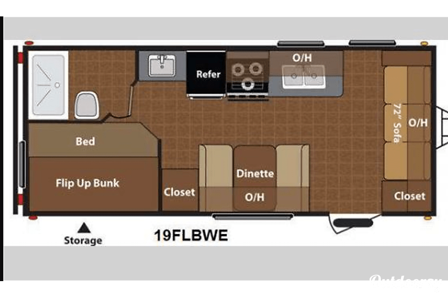 floorplan 2014 Keystone Hideout Moses Lake, WA
