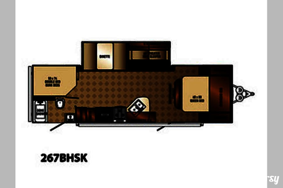floorplan 2015 Palomino Solaire Ultra Lite Conroe, TX