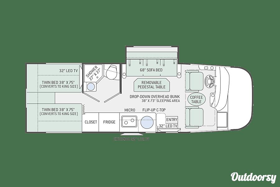 floorplan 2016 Thor Axis Class A RUV Columbus, IN