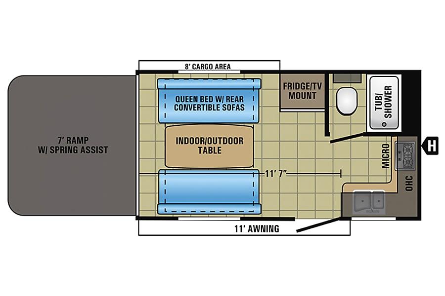 floorplan 2015 Jayco Octane SL 161  Toy Hauler Placerville, CA