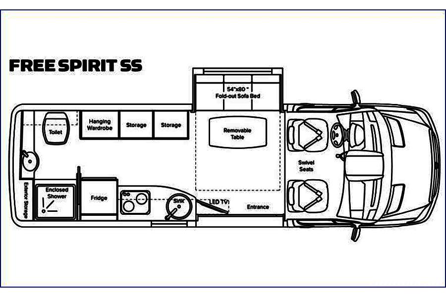 floorplan 2013 Leisure Travel Free Spirit SS Henderson, NV